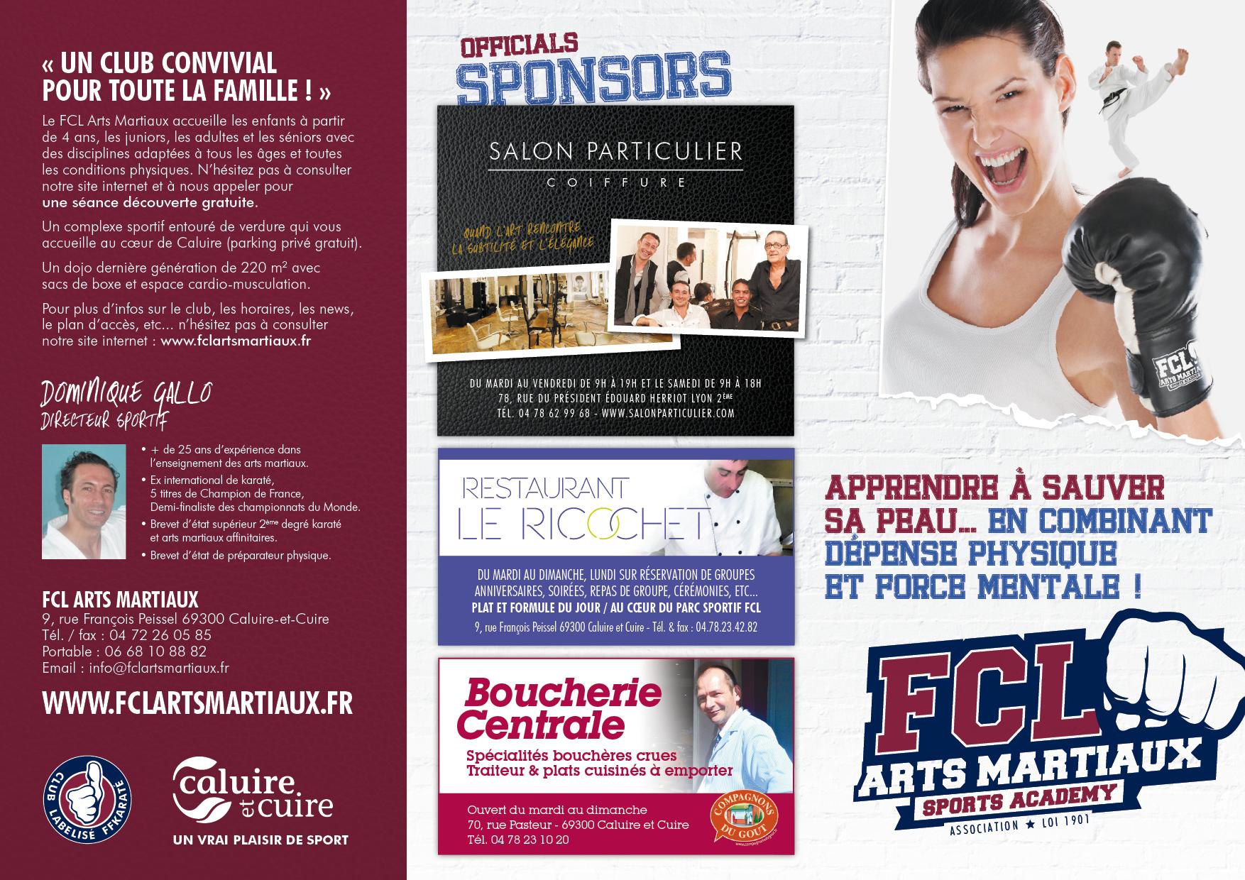 Fcl arts martiaux la plaquette fcl arts martiaux for Arts martiaux pdf