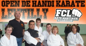De l' Or pour la section HANDI du  FCL arts martiaux à  l'Open international handikaraté de  Lentilly