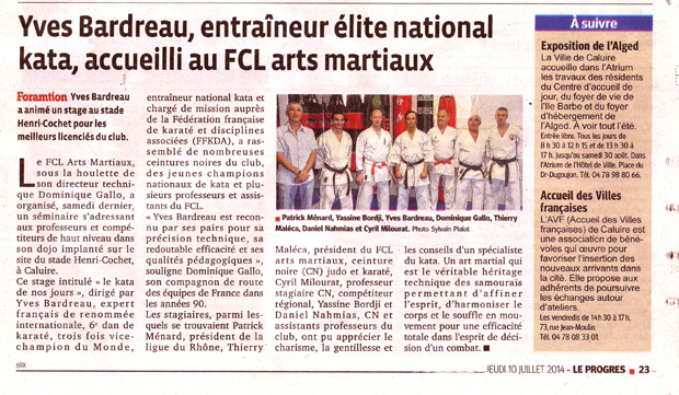 Fcl arts martiaux retour en images du stage de yves bardreau for Fcl arts martiaux