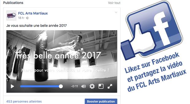 Vidéo des Voeux 2017 du FCL Arts Martiaux